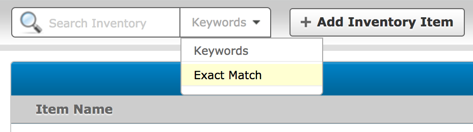 Exact Match Searching