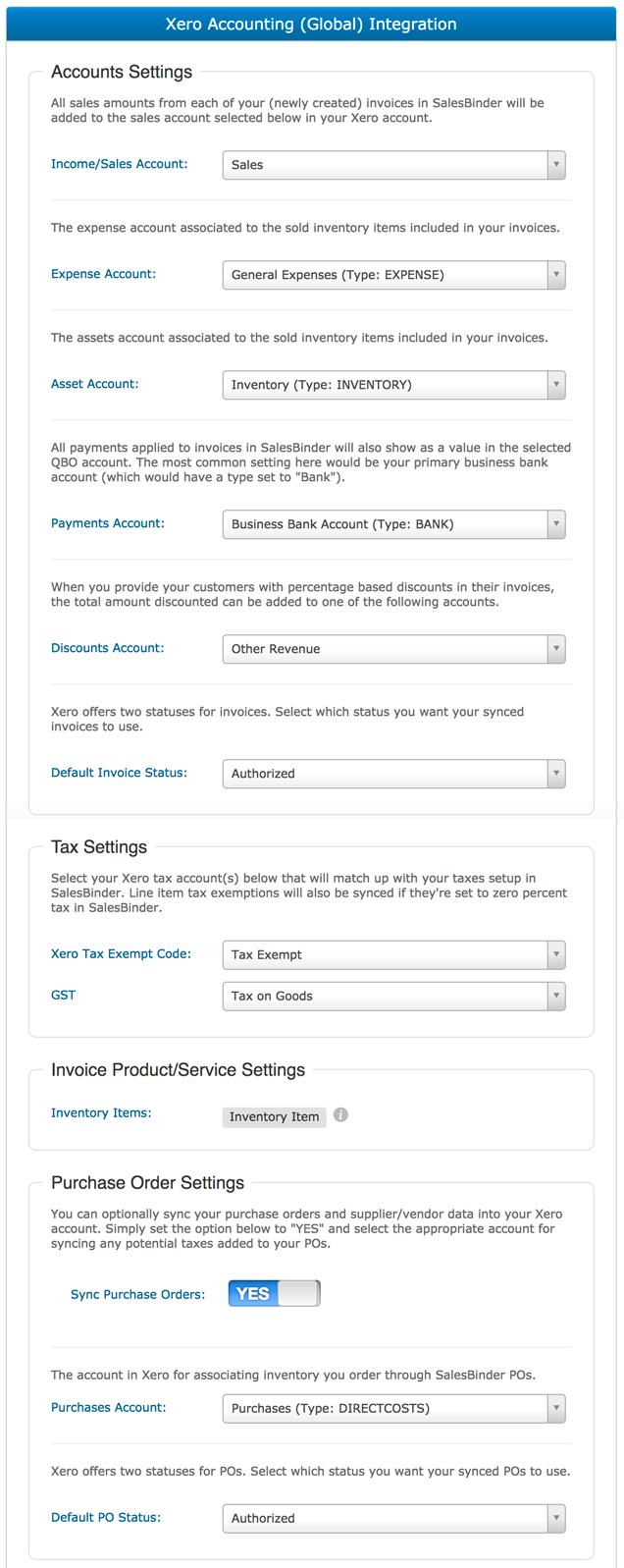 Xero Accounting Integration